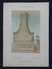 LA TENTURE FRANÇAISE 1904 - Lit Louis XVI - Davène passementerie tapis 2