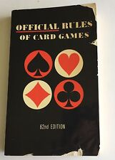 Official Rules of Card Games 62nd Edition