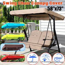 3 Seater Spare Cover Replacement Canopy Swing Seat For Garden Hammock  ❤
