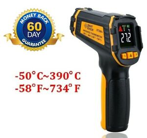 Digital Industrial Infrared IR Thermometer Gun with Laser Pointer & LCD Display