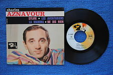 CHARLES AZNAVOUR / EP BARCLAY 70591 / LABEL 2 / BIEM 1963 ( F )