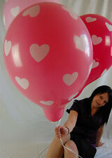 "5 x Qualatex 16"" HERZEN Luftballons in rosa/pink/rosé *HEARTS*HOCHZEIT*WEDDING*"