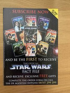 Star Wars The Official Fact File Flyer / Application Form