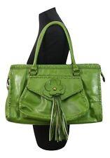 NEXT Handbag Green w/ Floral & Tassles Weekend Evening Party Casual Everyday