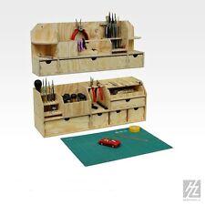 HobbyZone - Kleine Tisch Werkbank + Wandregal + Schublade im Sparset - NEU