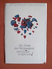 schöne Glückwunschkarte zum Polterabend Karte Glückwünsche Wünsche Hochzeit Ehe
