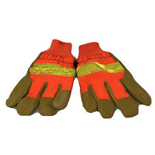 Mcr Memphis Safety Gloves Leather Orange Insulated Large Winter Cold Weather New