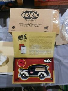 Vintage First Gear 1939 Chevrolet Canopy Panel Wix Oil Filters Bank 1:34 Diecast