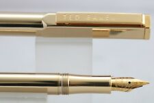 More details for new ted baker 'straight to the point' gold plated fountain pen, cased, ink