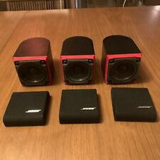 Set of (3) Bose Redline Single Cube Speakers Lifestyle / Acoustimass Black