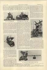 1921 Victoria Concrete Mixers Ransome Street Work Machine