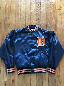 Vintage Felco Detriot Tigers Satin Jacket Size M Rare Size Made in USA
