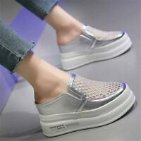 Womens Summer Fashion Sneaker Platform Wedge Heel Slippers Sandals Shoes Slip on