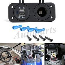 12V-24V Dual USB Power Charger Adapter+GPS / Cigarette Lighter Socket Waterproof