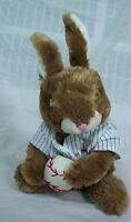 "Dan Dee CUTE SOFT BASEBALL PLAYER BUNNY RABBIT 12"" Plush STUFFED ANIMAL Toy"