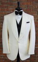 White Double Lapel Dinner Jacket  80410