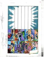 Original 1998 Marvel Avengers 1 color guide art:Perez Submariner/She-Hulk/SIGNED