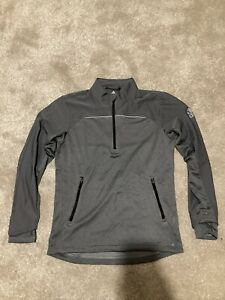 ADIDAS MENS 1/4 ZIP GOLF PULLOVER - GREY - SIZE SMALL