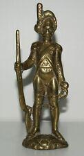 Vintage Heavy Solid Brass Soldier Figurine