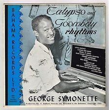 GEORGE SYMONETTE-calypso & goombay rhythms   LP   (hear)   calypso  autographed