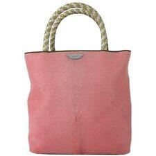 Christian Dior Pony Hair Calfhair baby pink braided handles micro tote Handbag