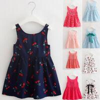 Toddler Girls Summer Princess Dress Kids Party Wedding Sleeveless Dresses XI