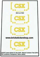 Precut Custom Stickers voor Lego Set 10219 - Maersk Train - CSX Containers