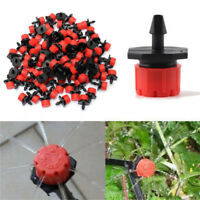 100Pcs Adjustable Micro Drip Irrigation Watering Emitter Drippers Sprinklers New