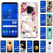 Thin Gel Design Protective Phone Case Cover for Samsung Galaxy S9,Marble Print