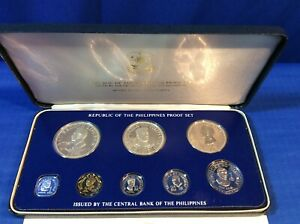 1975 Republic of the Philippines Proof Set FRANKLIN MINT + COA