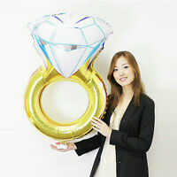 Fashion Diamond Ring Foil Helium Balloon Party Decoration Wedding Engagement