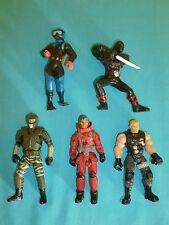 "Military & Ninja Action Figures Loose Lot 5 Pcs 4 1/2"""