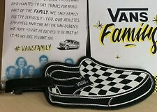 Rare Vans Family Exclusive Classic Slip-On Checkerboard Shoes Luggage Tag