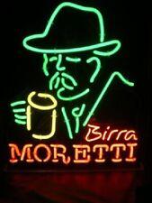 "Birra Moretti Brewing Neon Light Sign 24""x20"" Beer Bar Decor Lamp Glass"