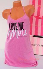 NWT Victoria's Secret VS Love Me More Print Pajama Sleep Tank Sleepshirt S Lilac