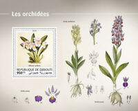 Djibouti Orchids Stamps 2018 MNH Miltonia Orchid Flowers Plants Nature 1v S/S