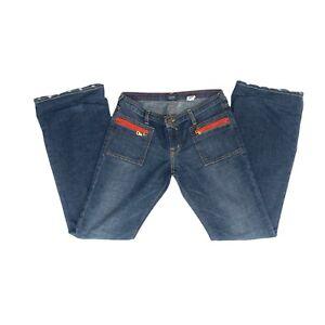 Von Dutch Originals Women's Flare Denim Blue Jeans Size 29