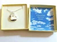 A Piece of my Heart is in Heaven Remembrance Lost Loved One Heart Necklace