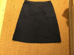 Crew Clothing Navy Skirt size 12 Good Condition