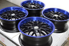 "17"" Blue Wheels Rims 5x114.3 Acura CL Legend MDX RDX RSX TL TLX Mustang Accord"