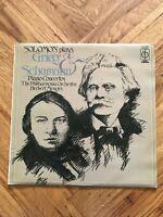 """CFP 40255 SOLOMON PLAYS GRIEG & SCHUMANN PIANO CONCERTOS 12"""" VINYL LP"""