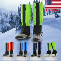 Waterproof Outdoor Climbing Hiking Snow Ski Gaiters Leg Cover Boots Snowproof