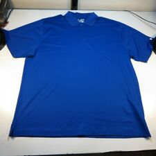 NEW UNDER ARMOUR HEAT GEAR GOLF POLO SHIRT Sz Mens XXL Blue