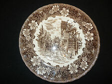 "ROYAL TUDOR WARE Coaching Taverns 1828 Brown 9"" Lunch Plate Staffordshire ENG"
