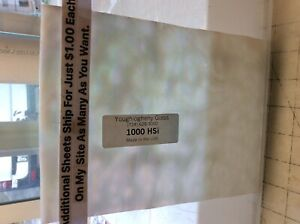 """#898 IRIDESCENT WHITE 8 x 6"""" Oceana 1000HS Semi Opaque Stained Glaa Sheet"""