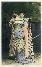 Maria GUERRERO (Actress): Signed Hand-Colored & Decorated Postcard