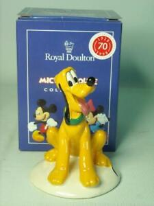 Royal Doulton PLUTO Figurine MM6 70th Mickey Mouse Collection Disney + Box