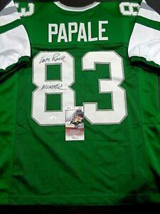 Vince Papale Philadelphia Eagles Autographed INSCIB Custom Jersey W-Coa JSA