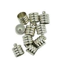 10pcs Silver Tone End Bead Caps for 8mm 9mm Cord Jewelry Findings Silver