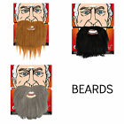 FANCY DRESS ELASTICATED BEARDS BLACK BROWN GREY ACCESSORY FACIAL HAIR ADULT FAKE